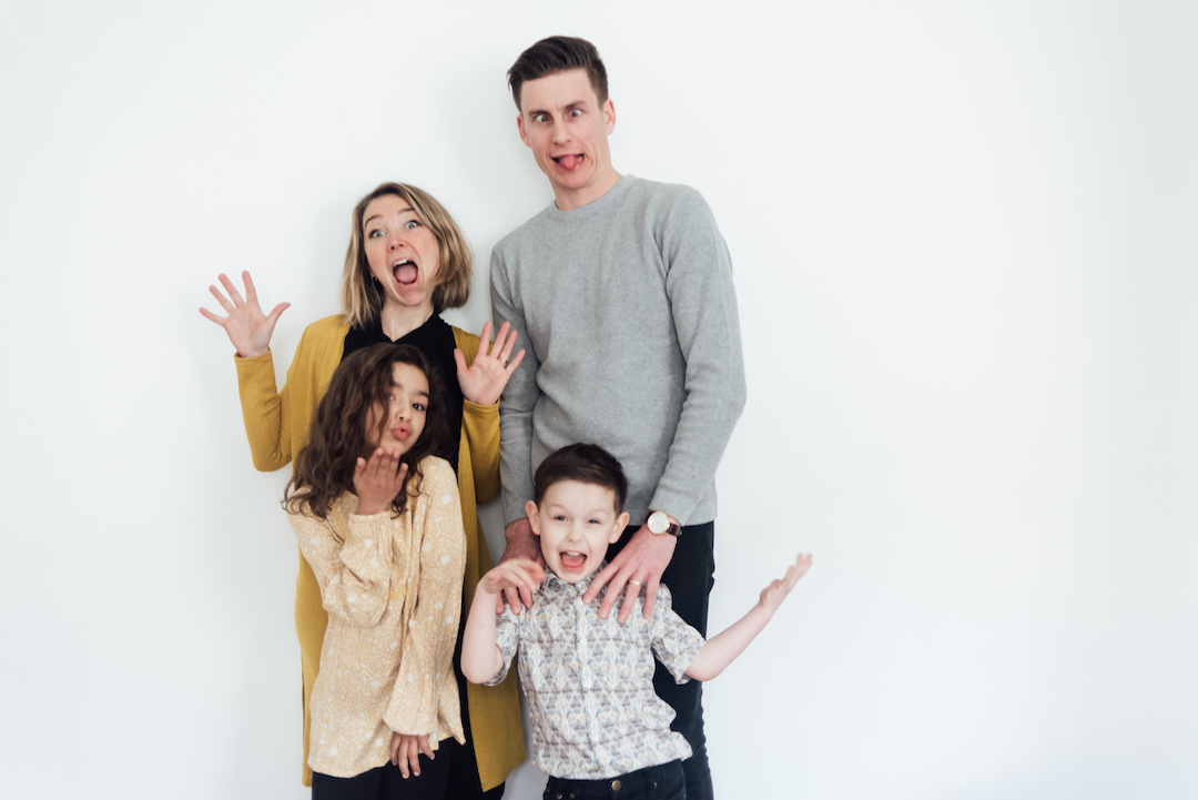 Fun Family Portrait | Business and Success Coach for Creatives | Audacious Lives
